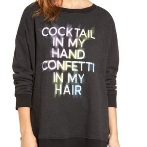 Wildfox Cocktail In My Hand Jumper